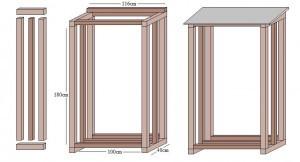 Bevorzugt Tipps und Bauanleitung zur Lagerung von Brennholz › Anleitungen DM17