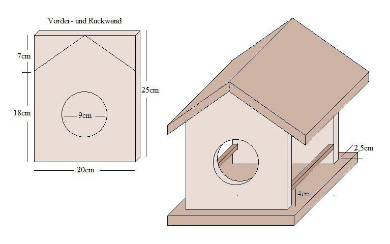 anleitung zum bauen f r ein vogelh uschen anleitungen. Black Bedroom Furniture Sets. Home Design Ideas