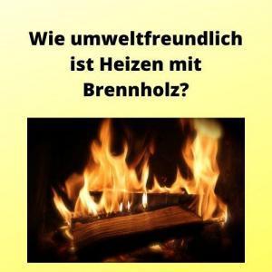 Wie umweltfreundlich ist Heizen mit Brennholz